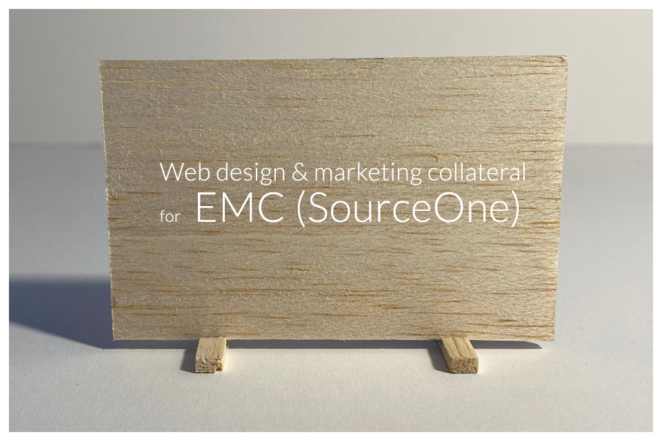 Web design and marketing collateral for EMC SourceOne