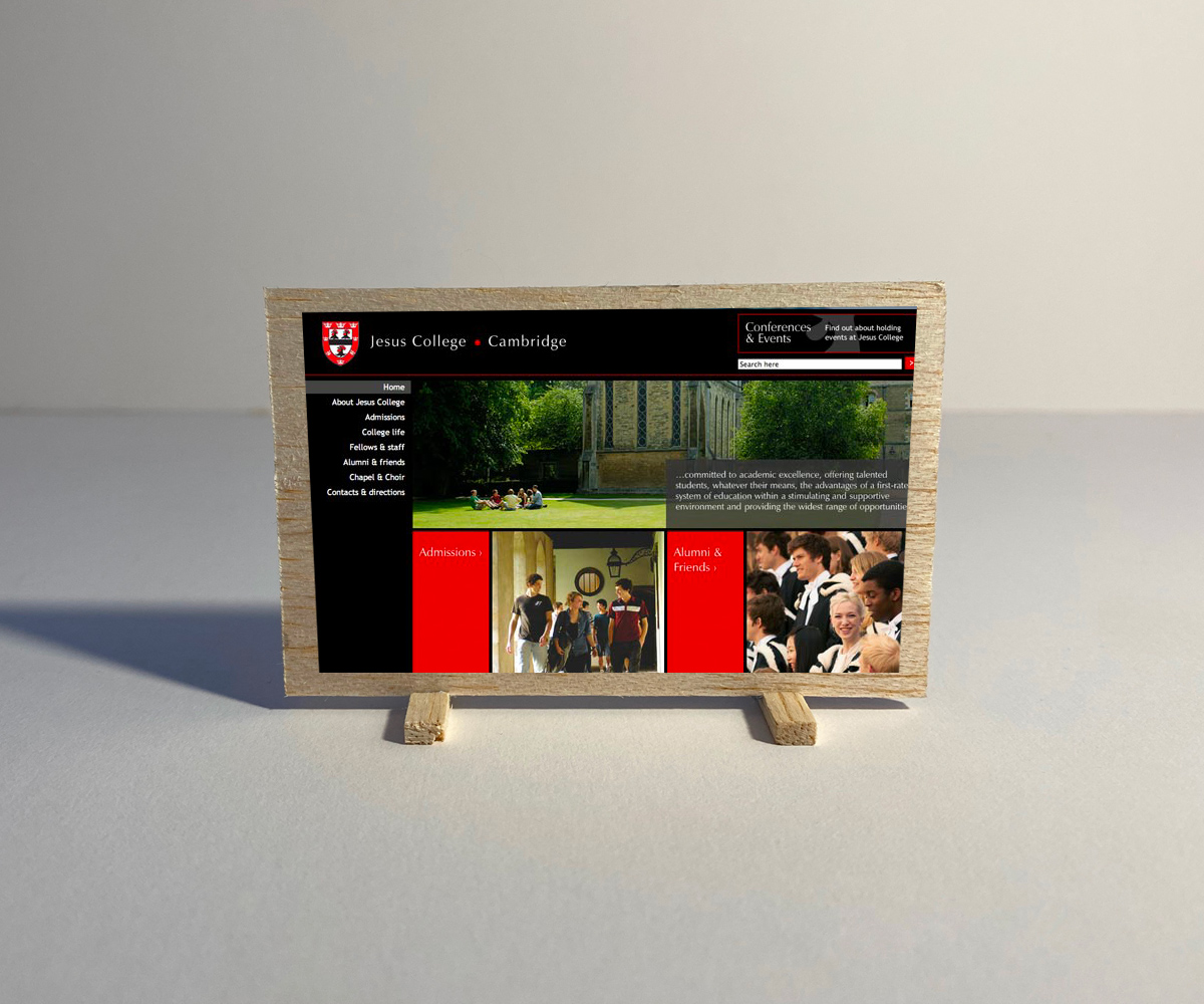 Jesus College website still
