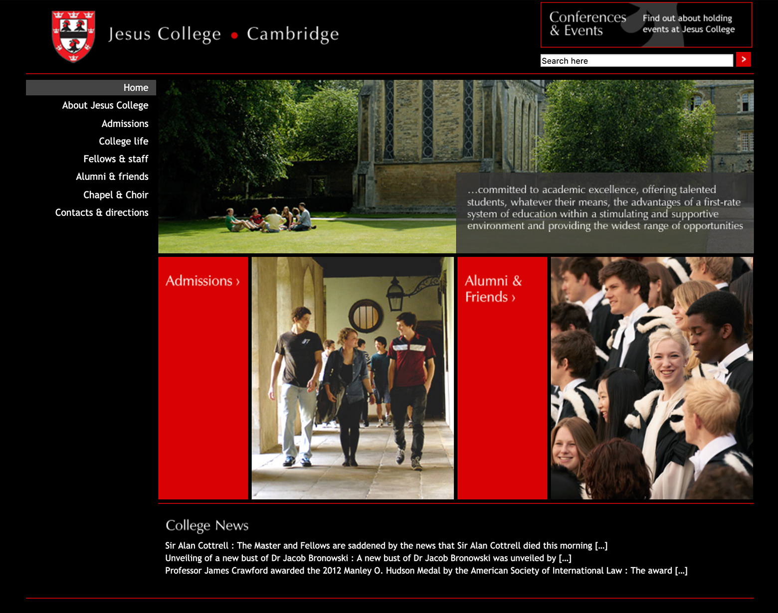 Jesus College conferences home